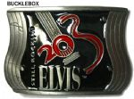 Elvis Presley Still Rockin Belt Buckle + display stand. Code PE6